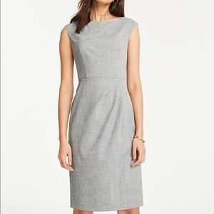 NWT Petite Crosshatch Boatneck Sheath Dress